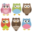 Colorful owls set vector image vector image