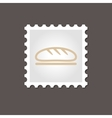 Bread stamp Outline vector image