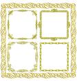 gold decorative frames set vector image