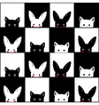 Black White Cat Rabbit Chess board Background vector image