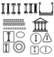 Silhouettes of Columns vector image vector image