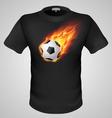 t shirts Black Fire Print man 17 vector image