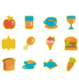cute icon food vector image