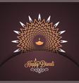 diwali vintage card design background vector image