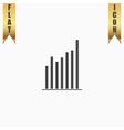 Graph chart sign icon Diagram symbol Statistics vector image
