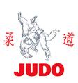 Judo sport t-shirt graphic print vector image