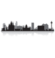 Liverpool city skyline silhouette vector image