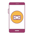 smartphone device with ecommerce app isolated icon vector image