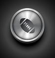 sport metallic icon vector image