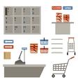 Supermarket equipment vector image