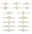 Colorful ethnic borders set isolated on white vector image