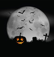 halloween moon background 0609 vector image