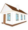 new house with brown door vector image