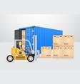 shipping transportation concept vector image