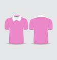 pink polo t shirt vector image