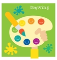 Children creativity and art development vector image