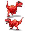 Tyrannosaurus rex with sharp teeth vector image