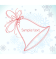 winter frame vector image vector image