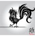 Rooster bird tattoo of Chinese New Year Rooster vector image vector image
