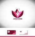 Lotus flower water lilly logo icon vector image