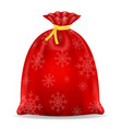 christmas santa claus bag stock vector image