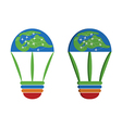Idea World Travel business Logo vector image