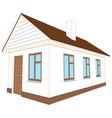new house with brown door vector image