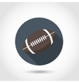 Rugby ball icon vector image