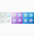 set of transparent matte soap bubbles vector image