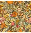 Cartoon cute doodles hand drawn Thanksgiving vector image
