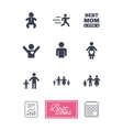 People family icons Maternity sign vector image