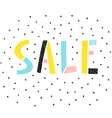 Sale sign on white background vector image