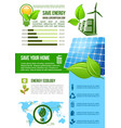 energy and ecology environment infographics vector image
