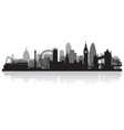 London city skyline silhouette vector image