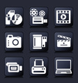 set photo and video icons vector image vector image