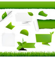 ecogy green set vector image vector image