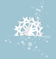 Vintage Christmas postcard with origami snowflake vector image vector image