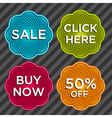 Spirograph Sale Stickers vector image vector image