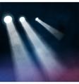 3 three Floodlights spotlights illuminates wooden vector image