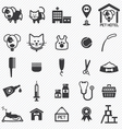 Pet Care icons set vector image vector image