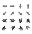 Arrow icon set 6 simple vector image