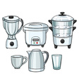 Electronic equipment using in kitchen vector image vector image