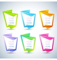 Set of vertical banners for your text vector image