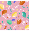 Happy Birthday Seamless Pattern with Balloons vector image