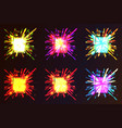 abstract colorful explosion collection vector image