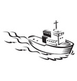 commercial fishing boat vector image
