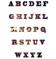 English textured alphabet vector image