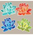 flower set color 01 vector image