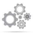 Gear set design on white background Grey gear vector image