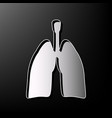 human anatomy lungs sign gray 3d printed vector image
